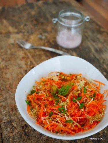 salade de fenouil avec carottes râpées