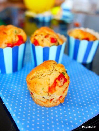recette de muffins salés : poivron, thon