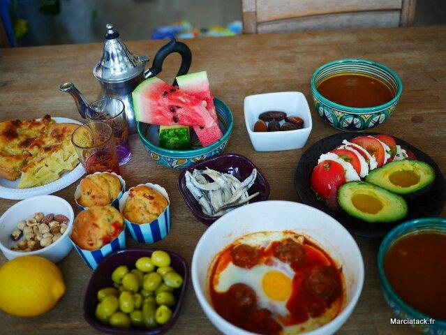 repas de ramadan pour l'été