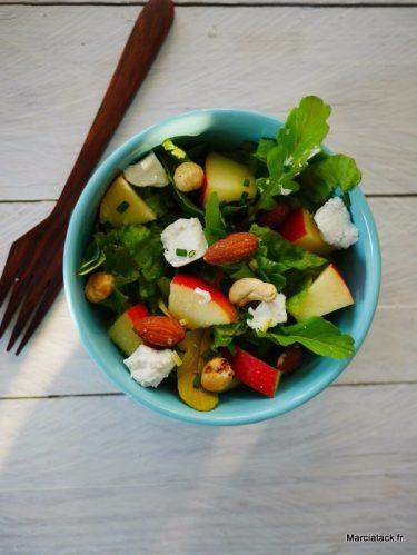 Recette de salade roquette et pomme