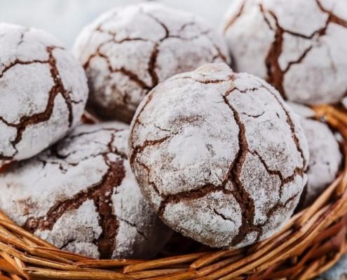 recette des biscuits craquelés au chocolat, les ghoribas