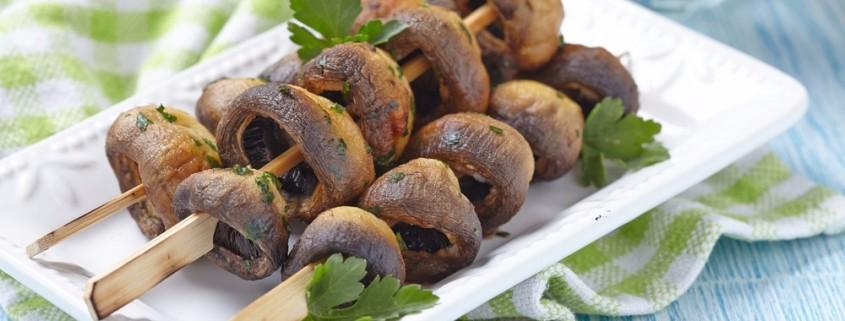 Recette des champignons de Paris grillés au barbecue