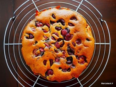 Gâteau aux cerises sans oeuf