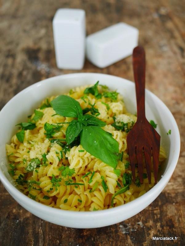 recette pâte aux herbes fraiches