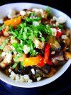 recette salade aubergines poivrons féta