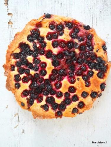 Gâteau rapide aux mûres