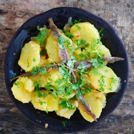 Salade De Pommes De Terre Aux Anchois Recette Facile