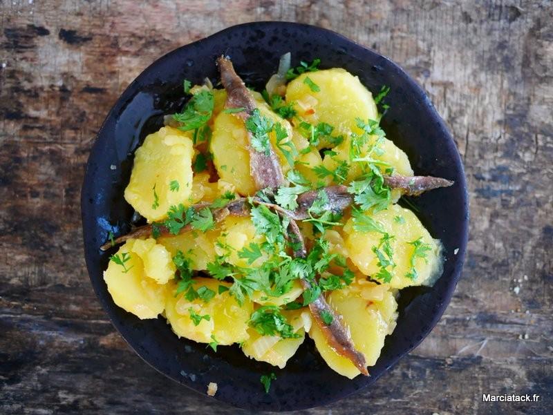 recette facile de salade d'anchois pommes de terre