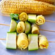 recette de brochettes de légumes