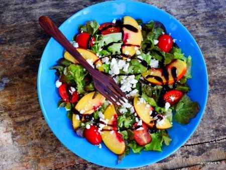 Salade vitaminée à la nectarine