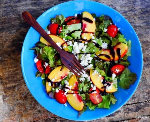 recette de nectarines en salade