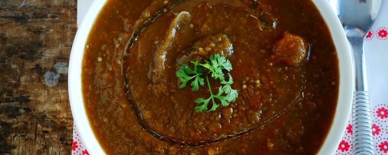 une délicieuse recette de soupe d aubergines, ici tout le monde est fan