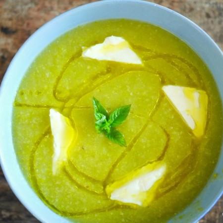 soupe de courgette vache qui rit, la recette