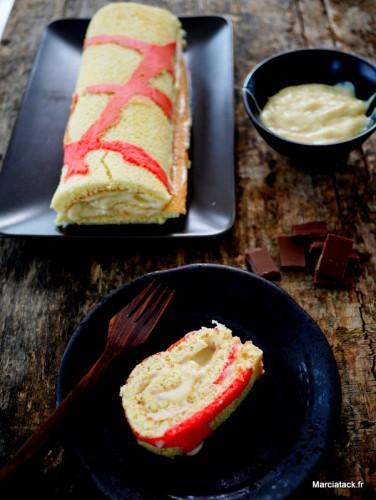 Gâteau roulé bicolore