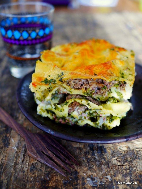 lasagnes aux pinards et viande hach es recette marciatack. Black Bedroom Furniture Sets. Home Design Ideas