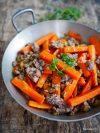 recette de carotte à la viande hachée