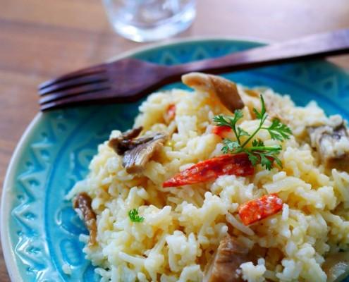recette de risotto de champignons