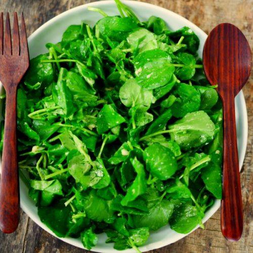 recette de cresson en salade