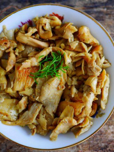 recette de pleurotes à l'ail
