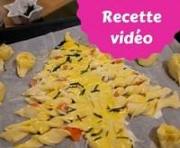 recette en vidéo du sapin feuilleté pour l'apéro