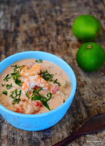 Ragout de poisson, lait de coco : Moqueca de peixe