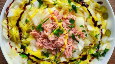 recette salade endives au thon et cornichons