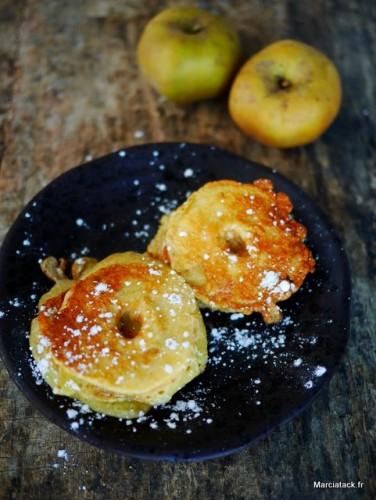 Beignets aux pommes, sans friture