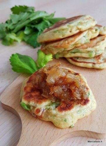 recette de blinis aux endives et celeris