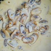 recette de champignons à la creme
