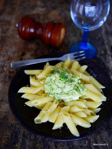 recette de pâtes sauce au brocolis