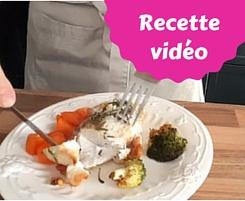 Poulet au four, brocolis et carottes