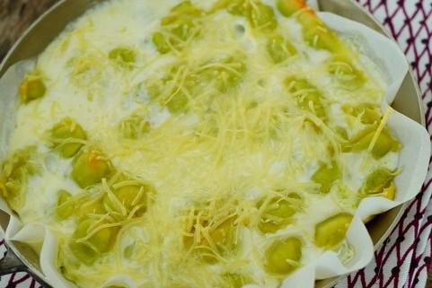 ravioles du dauphiné en gratin cuite au four avec crème fraiche