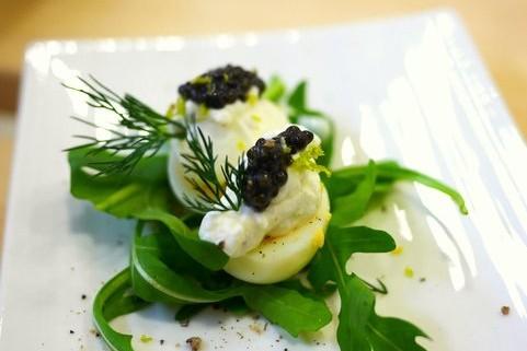 Recette de caviar et oeuf de caille