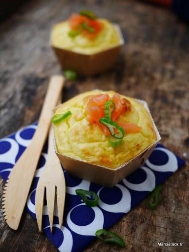 Soufflé de pommes de terre au saumon