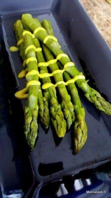 Recette d'asperges vertes en vinaigrette en toute simplicité