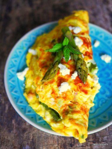 recette omelette asperges vertes