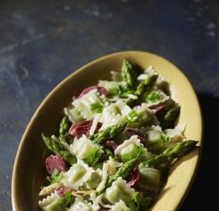 Ravioles aux asperges vertes