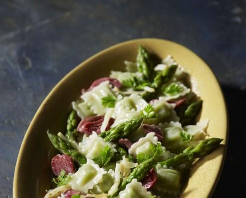 recettes d'asperges et ravioles