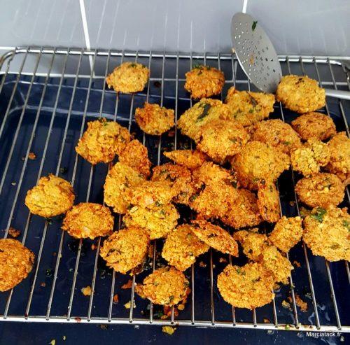 boulettes de pois chiches frites