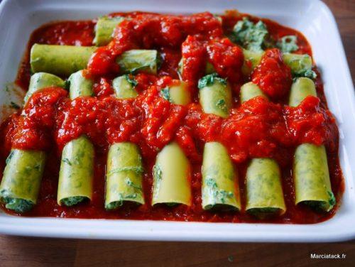 recette des traditionnels cannellonis farcis aux épinards frais
