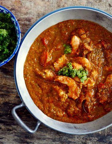 recette du tajine de crevettes chermoula