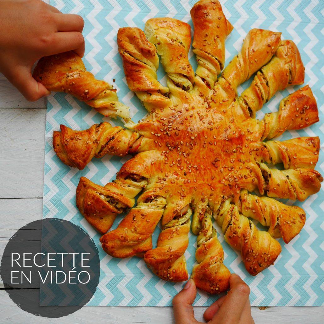 Tarte soleil sauce pesto olives et jambon recettes de cuisine - Tarte soleil jambon cru ...