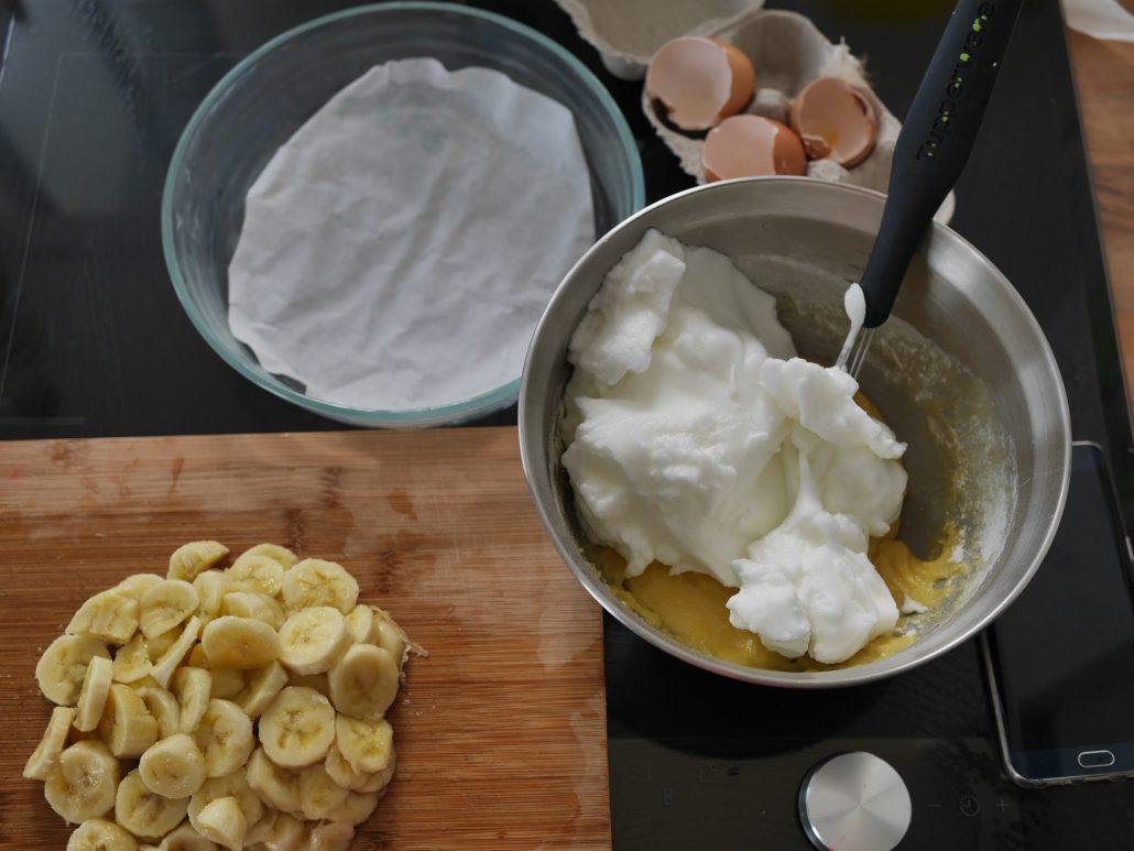 ingrédients du gâteau à la bananes