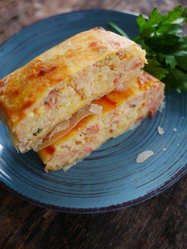 Brick de purée de pommes de terre thon et oeuf