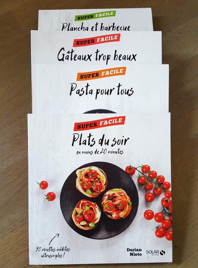les 4 nouveaux livres de recettes de dorian - marciatack.fr