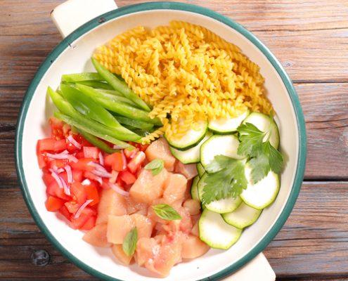 recette one pot pasta poulet courgette