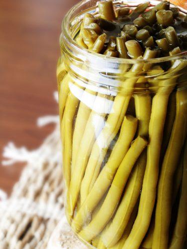 Conserves de haricots verts (cocotte minute)