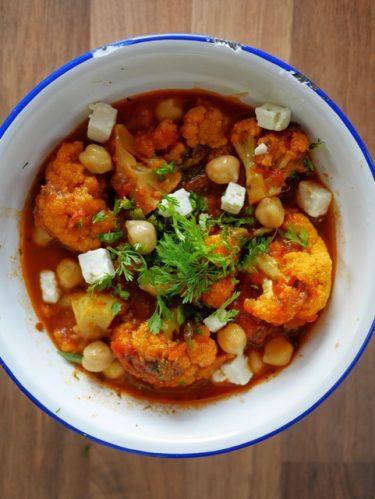 curry de chou fleur et feta