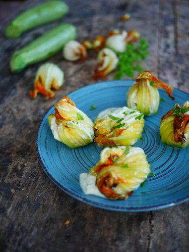 recettes de fleurs de courgettes farcies