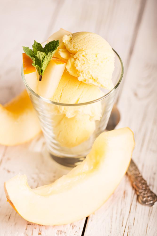 recette de glace au melon en sorbetière